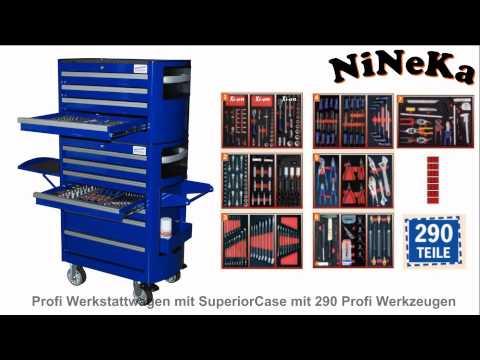 Werkstattwagen Werkzeugschrank Werkzeugkiste Werkzeugwagen Rollwage 7 Schubladen