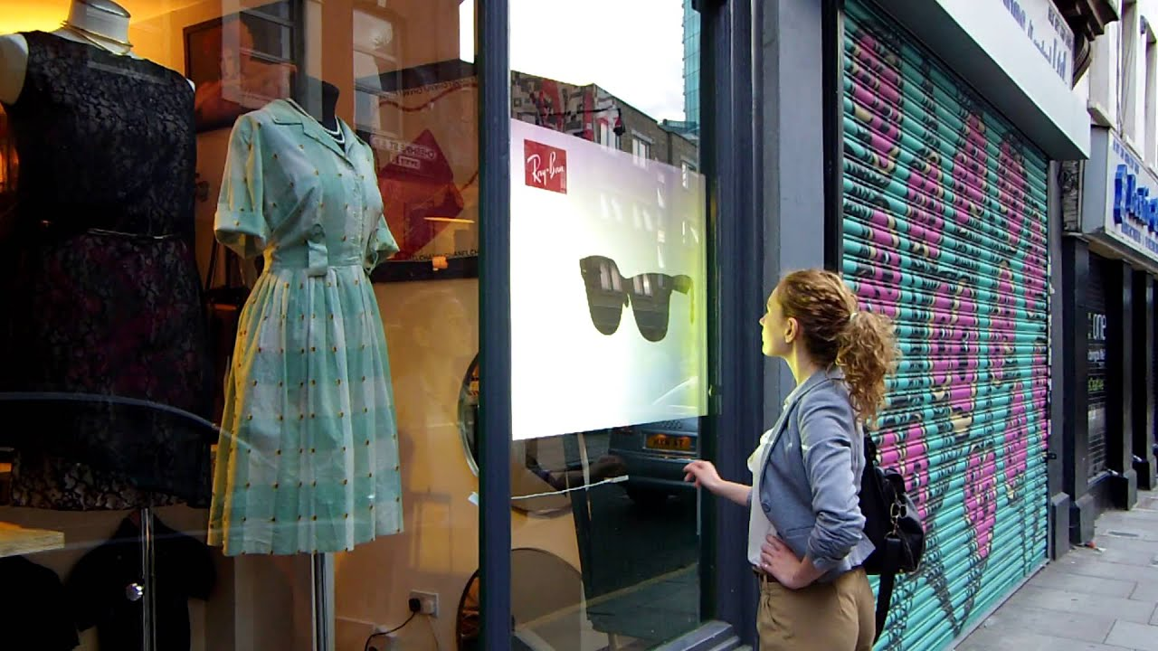 Interactive Window Display System With Gesture Recognition