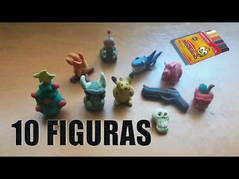 10 figuras de plastilina con una sola caja (Mr :P)