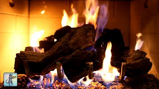 🔥❄️ Cozy Winter Fireplace 🔥❄️ Burning Fireplace, Crackling Fire Sounds & Relaxing Guitar Music