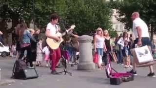 Johnny Cash, Ring of Fire cover - Busking in the streets of London, UK