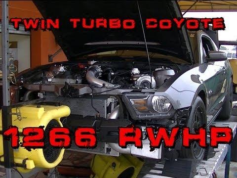 Mustang GT Twin Turbo - 1266 RWHP 1058 RWTQ - Twinturbo50.com