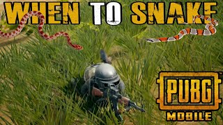 WHEN TO SNAKE OR GO PRONE - PUBG MOBILE PRONING