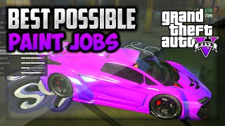 "GTA 5 - Secret Paint Jobs! Best ""1.15 RARE Paint Jobs"" Car Color Guide (GTA 5 Best Paint Jobs)"