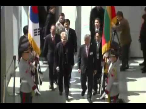 Greeting the President of Lithuania Dalia Grybauskaite