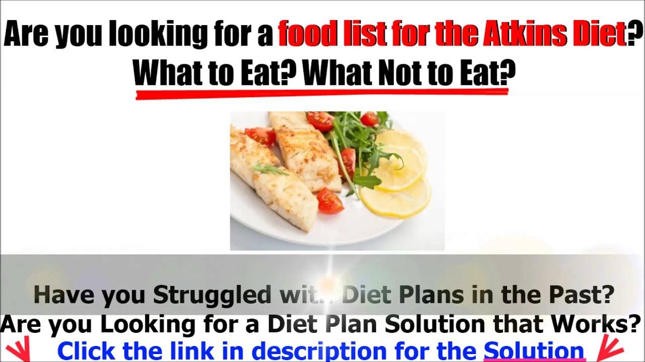 Atkins diet food list - YouTube