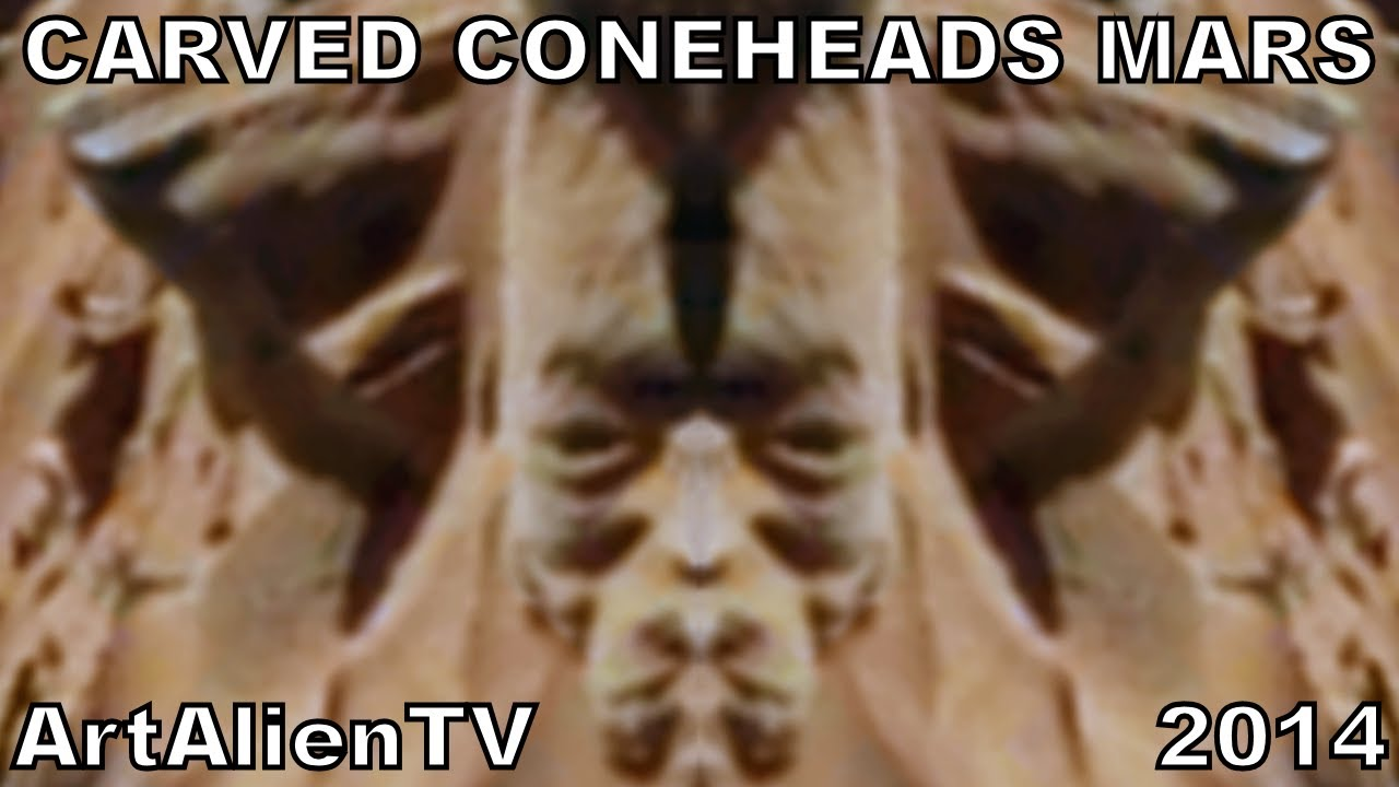 Mars carved cone head statues latest from artalientv