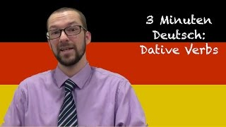 Dative Verbs - 3 Minuten Deutsch #28