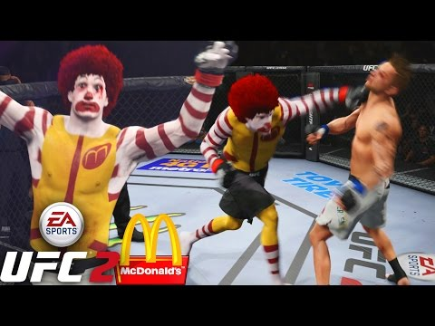 Ronald McDonald Serving These HANDS! I'm Loving It! EA Sports UFC 2 Online Gameplay
