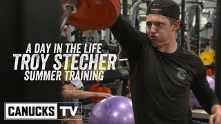 Troy Stecher in the Gym with Brendan Gallagher