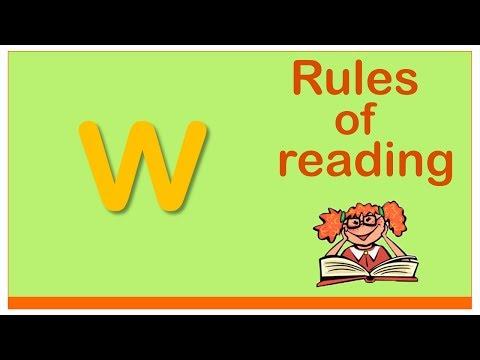 Английский для начинающих. Правила чтения в английском языке. Буква W.