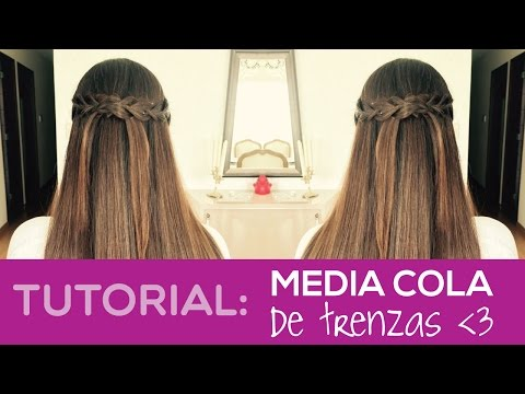 Media cola de trenzas - Braided half up do   Pixie MakeUp