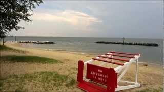 Point Lookout Beach and State Park - Southern Maryland USA - Short Video Tour