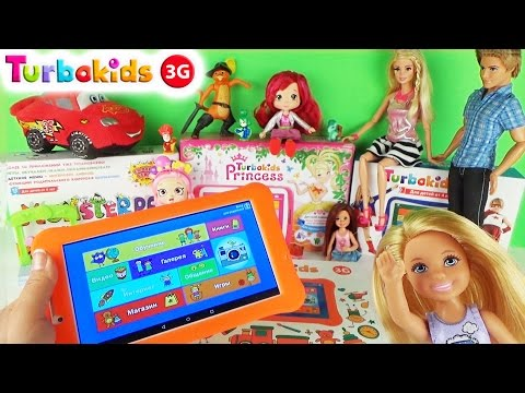 Детский планшет TurboKids 3G с 2 SIM картами Распаковка и обзор Турбокидс Играем в игры