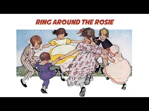 Ring Around the Rosie (instrumental nursery rhyme - lyrics video for karaoke)