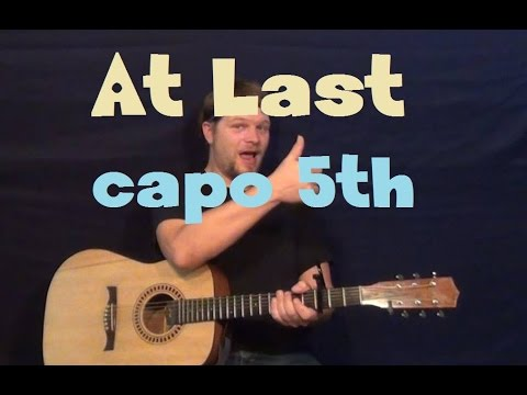 At Last (Will Champlin) Easy Guitar Lesson How to Play Capo 5th Tutorial