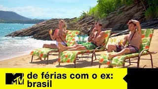 Leo, Pedro e Bifão aguardam o próximo ex na praia   De Férias Com O Ex Brasil Ep. 08