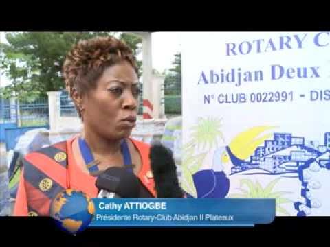 Le rotary club Abidjan 2-plateaux fait don de 350 millions de matériels au centre d'hémodialyse