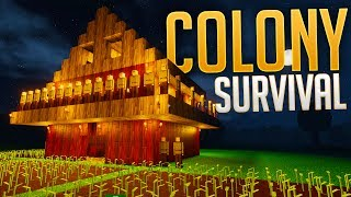 Colony Survival - Siege Mode Testing - Building A Neighborhood - Colony Survival Gameplay Highlights