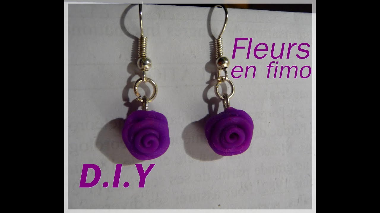 tuto boucles d 39 oreilles fleurs fimo youtube. Black Bedroom Furniture Sets. Home Design Ideas