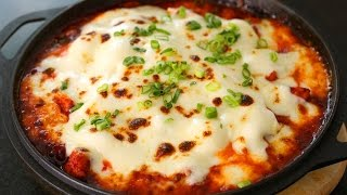 Spicy fire chicken with cheese (Cheese Buldak: 치즈불닭)
