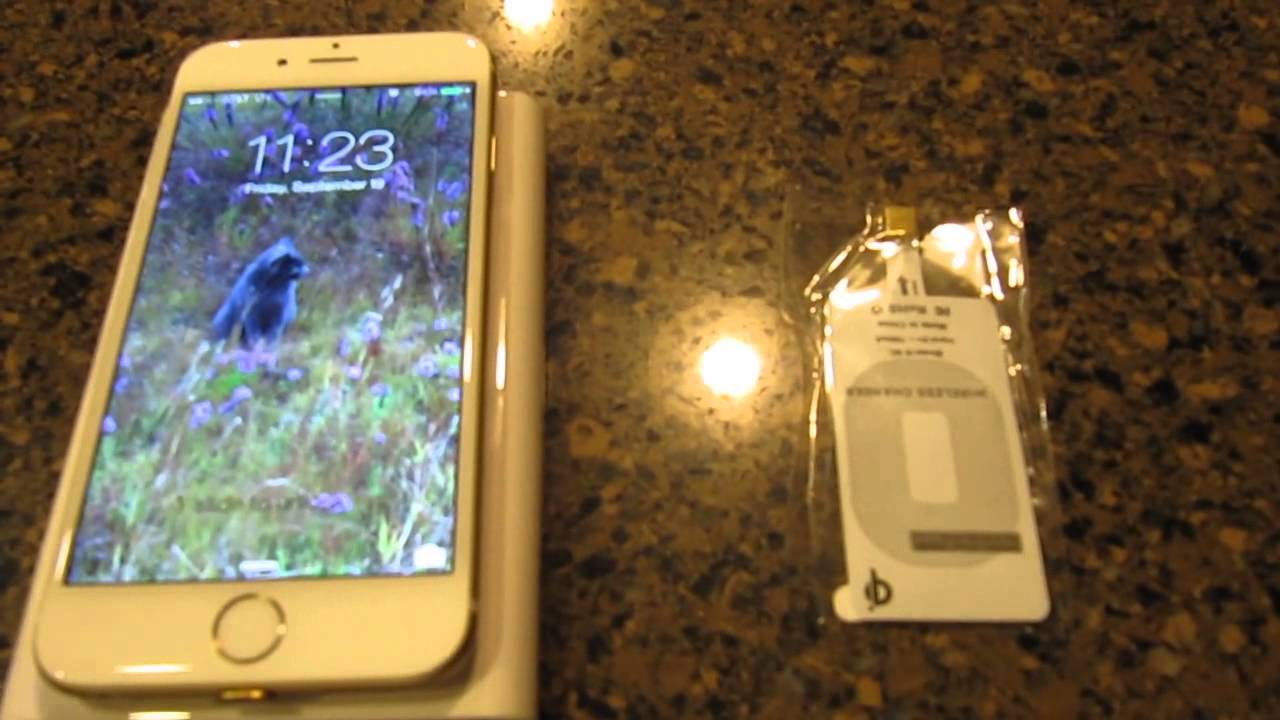 Iphone 6 Qi Receiver Adapter Wireless Charging Youtube