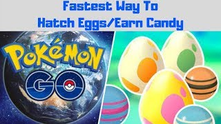 POKÉMON GO DISTANCE TRICK! (BEST WAY TO HATCH EGGS AND EARN BUDDY CANDY)