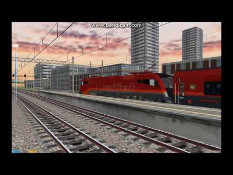 OpenBVE HD EXCLUSIVE: OBB Railjet Train Set Pack (Siemens Eurosprinter ES64U2 Taurus)