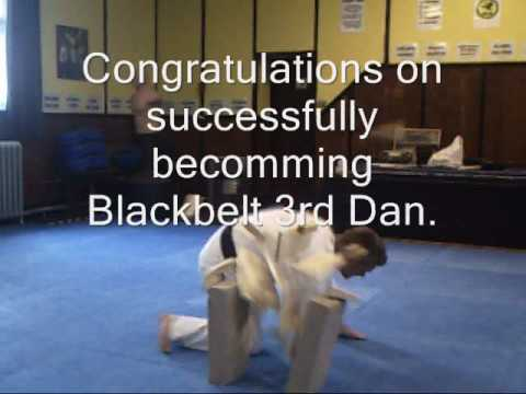 Jamie's Taekwondo Breaks for Blackbelt 3rd Dan Grading