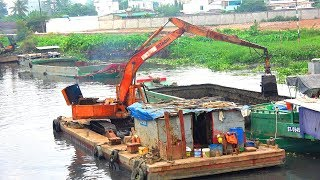Song for kids ♫ Excavator Busy Working On The River