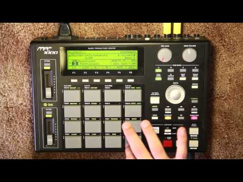 MPC 1000 Chopping samples simple tutorial.