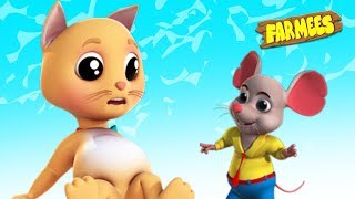 The Cat and Rat Under Table | Songs for Kids & Nursery Rhymes