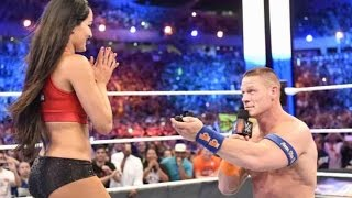 John Cena Surprises Longtime Girlfriend Nikki Bella With Wrestling Ring Proposal