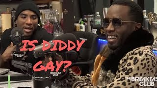 Charlamagne asks Diddy if  he is gay, he doesn't say no but says 50 cent is in love with him!!