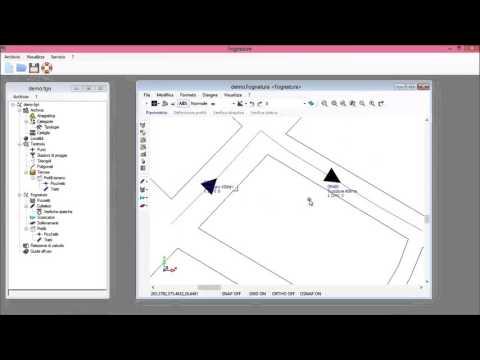 creazione della rete con sfondo dwg/dxf in coordinate locali