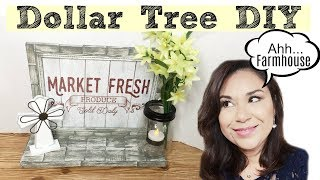 Dollar Tree DIY Farmhouse Wood Shelf |
