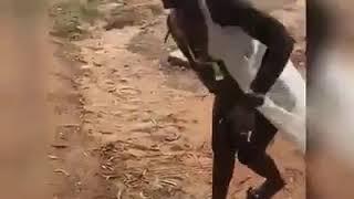 Ebony finally shows her pussy
