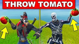 """""""Hit a player with a Tomato 15m away or more"""" – WEEK 3 CHALLENGES FORTNITE SEASON 6"""