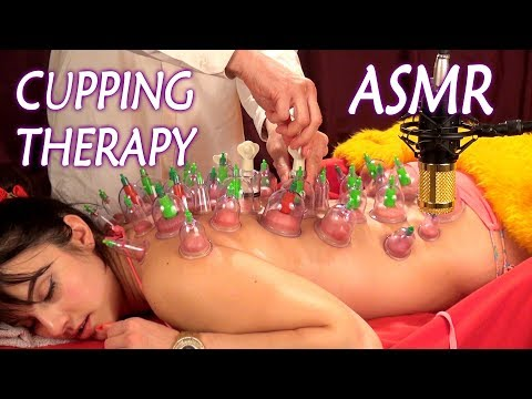 Cupping Therapy ASMR | Cup Back Massage And Pain Relief