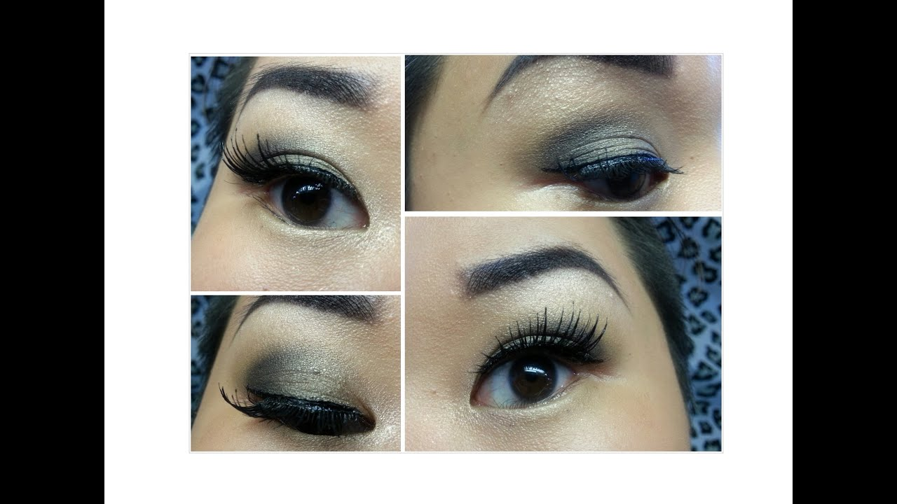 A Light Smokey Eye With Neutral Colors False Eyelashes