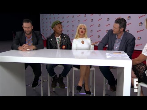 Christina Aguilera & Coaches - E! News Interview (20/Apr/15)