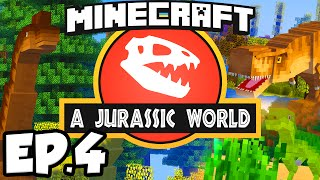 Jurassic World: Minecraft Modded Survival Ep.4 - ABANDONED MINE!!! (Rexxit Modpack)