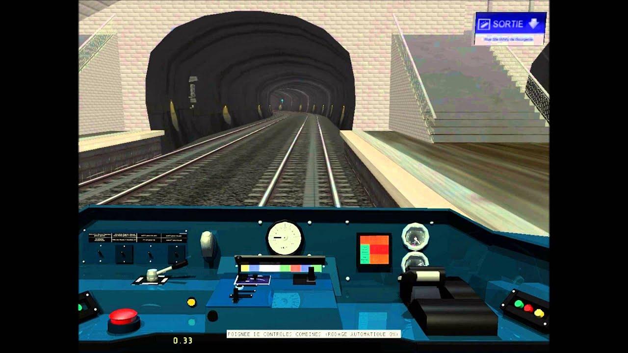 Train sim mairie d 39 ivry porte d 39 italie en mf77 youtube for Metro porte d italie