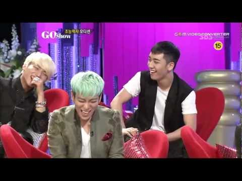 (SUBBED) Big Bang TOP imitating Seungri on Go Show