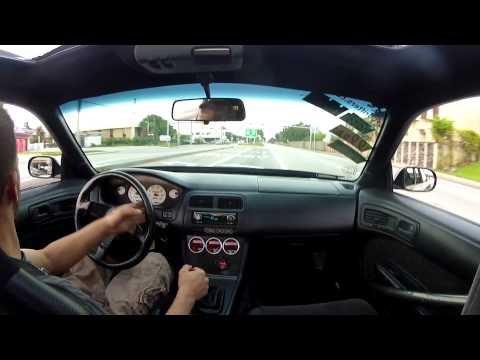 Supercharged V8 240sx on ramp fun....