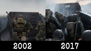 Medal of Honor (2002) vs Call of Duty (2017): Omaha Beach Comparison