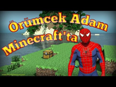 Örümcek Adam Minecraft Dünyasında Örümcek Çocuk Onun Peşinde