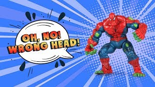 Wrong Heads Superheroes: Learn Colors With Hulk and His Friends Amazing Toys For Kids