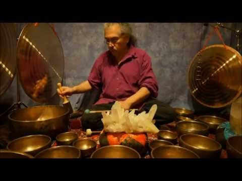 Crystal Chakra Meditation with Antique Tibetan Singing Bowls