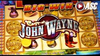 JOHN WAYNE Spinning Streak | WMS - NICE WIN! Slot Machine Bonus
